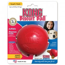 KONG Biscuit Ball - Balle distributeur pour Chien (Small)