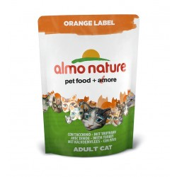 ALMO NATURE Orange Label - Croquettes Chat Dinde 105gr