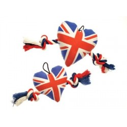Peluche British Coeur Union Jack pour Chien (30cm) - House of Paws