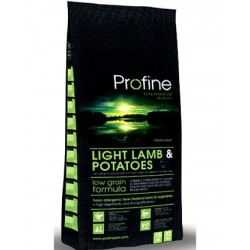 PROFINE Light Lamb and Potatoes Super Premium - Croquettes pour chien en surpoids et maintien du poids 3kg