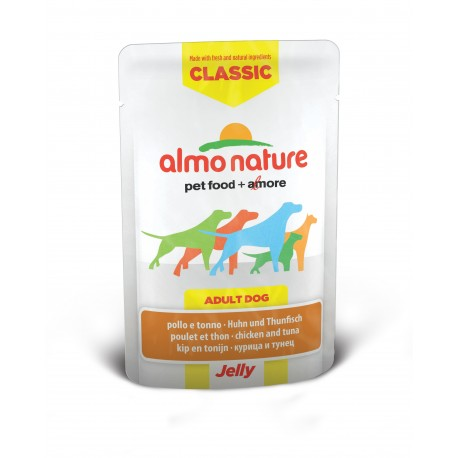 JELLY CLASSIC Chien Poulet Thon 70gr - ALMO NATURE