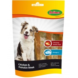 Filets de Poulet et Poisson pour Chien 100gr - Bubimex (Chicken and Fishskin Steak)