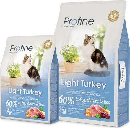 PROFINE LIGHT TURKEY - Croquettes pour chat en surpoids et maintien du poids 2kg
