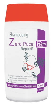 Shampooing Répulsif ZERO PUCE HERY Chat et Chaton (200ml)