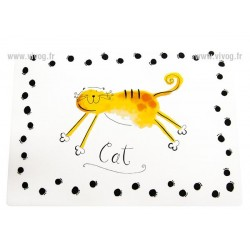 PROMO NOEL ! Set de Table opaque blanc CAT 44*32cm