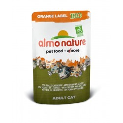 ALMO NATURE Orange Label Bio Chat - Poulet et Légumes 70gr