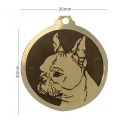 Médaille à graver - Boston Terrier 30mm