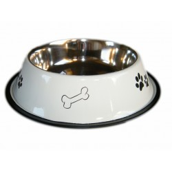 Gamelle Chien inox Couleur antidérapante (6 tailles)