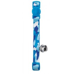 Collier Chat Camouflage Bleu (réglable, anti-étrangement) - HUNTER SMART