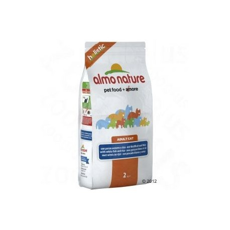 ALMO NATURE Holistic Croquettes Chat Adulte Poisson Blanc et Riz 2kg