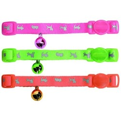 Collier Chat Orange Fluo Reflective (réglable, anti-étranglement) - HUNTER SMART