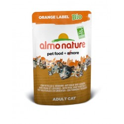 ALMO NATURE Orange Label Bio Chat - Veau et Légumes 70gr