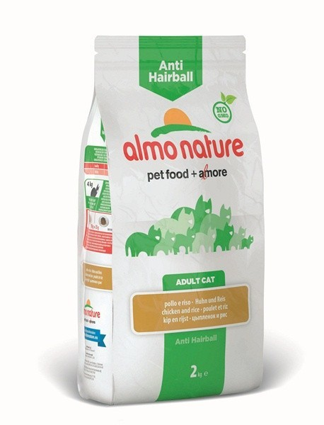 ALMO NATURE Holistic Anti Hairball Croquettes anti boules de poils Chat Adulte - Poulet et Riz