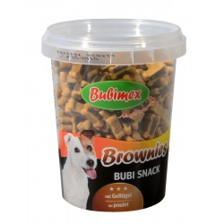 Bubi Snack Brownies 300gr, saveur Volaille Bubimex