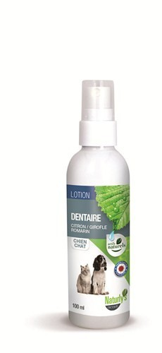 NATURLY'S OCTAVE Lotion Dentaire Citron, Girofle, Romarin pour Chien/ Chat 125ml