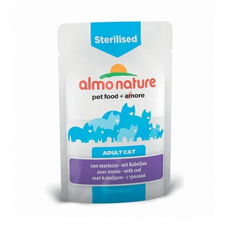 ALMO NATURE Sterilised à la Morue 70gr