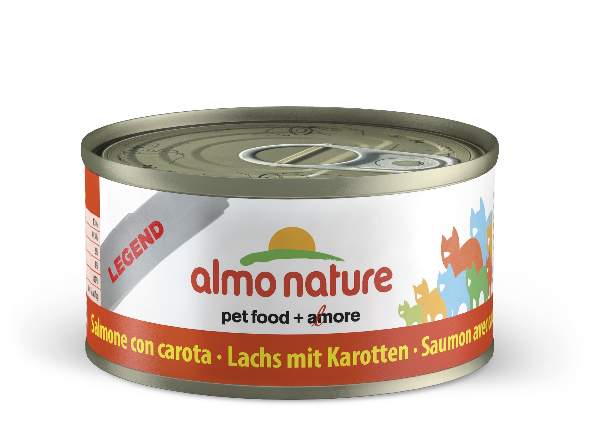 ALMO NATURE Legend Chat, Saumon et Carotte 70gr