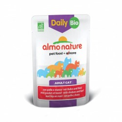 ALMO NATURE DAILY BIO Chat - Poulet et Boeuf 70gr