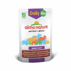ALMO NATURE DAILY BIO Chat - Boeuf et Légumes 70gr