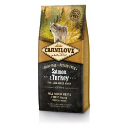CARNILOVE Adult Large Breed Salmon Turkey sans céréales (saumon et dinde) - Croquettes Chien Grande Race