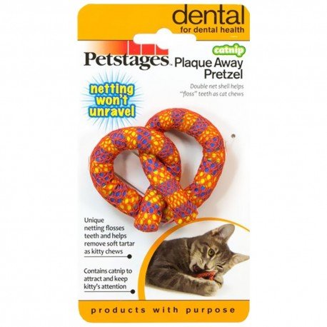 PETSTAGES Chat - Catnip Plaque Away Pretzel