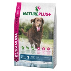 EUKANUBA NaturePlus+ Chien Adulte Grande Race au Saumon