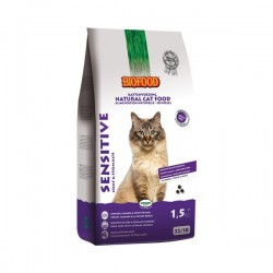BIOFOOD SENSITIVE Sensibles - Croquettes naturelles pour chat