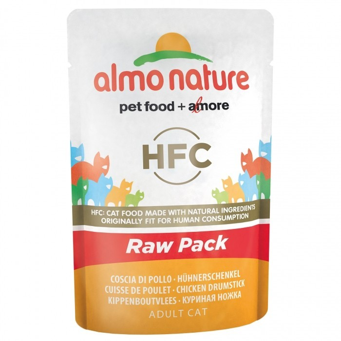 ALMO NATURE HFC Raw Pack Chat - Cuisse de Poulet 55gr