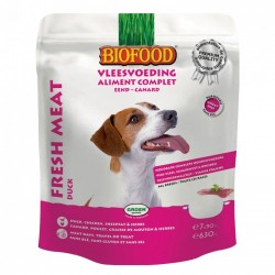 BIOFOOD Aliment complet Canard pour Chien (7*90gr)