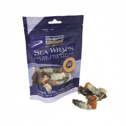 Friandise FISH4DOGS Poisson Patate douce 100gr - Sea Wraps