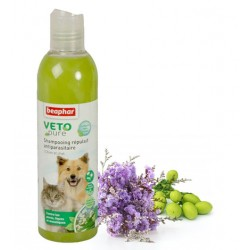 Shampooing Répulsif Antiparasitaire - BEAPHAR VETOPURE Chien et Chat 250ml