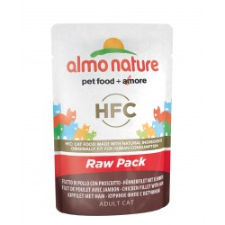 "ALMO NATURE Green Label ""Raw Pack"" Chat - Filet de Poulet avec Jambon 55gr"