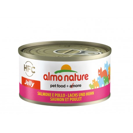 ALMO NATURE HFC Jelly Chat, Saumon et Poulet 70gr