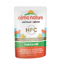 ALMO NATURE HFC Natural, Saumon et Potiron 55gr