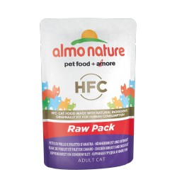 ALMO NATURE Green Label Chat - Blanc de Poulet et Filet de Canard 55gr