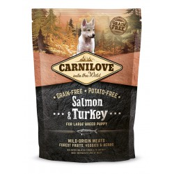 CARNILOVE Puppy Large Breed Salmon Turkey sans céréales (saumon et dinde) - Croquettes Chiot de grandes races