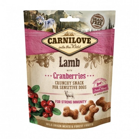 CARNILOVE Crunchy Snack LAMB with Cranberries pour Chien (agneau) 200gr