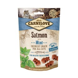 CARNILOVE Crunchy Snack SALMON with Mint pour Chat (saumon et menthe) 50gr