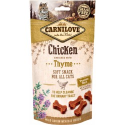 CARNILOVE Soft Snack CHICKEN with Thyme pour Chat (poulet et thym) 50gr