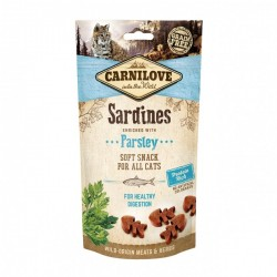 CARNILOVE Soft Snack SARDINES with Parsley pour Chat (sardines et persil) 50gr