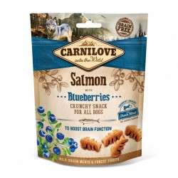 CARNILOVE Crunchy Snack SALMON with Blueberries pour Chien (saumon) 200gr