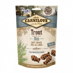 CARNILOVE Soft Snack TROUT with Dill pour Chien (truite et aneth) 200gr
