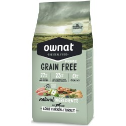 OWNAT Grain Free Prime Adult Chicken and Turkey - Croquettes Chien Poulet et Dinde (plusieurs conditionnements)