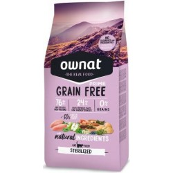 OWNAT Grain Free Prime Cat Sterilized - Croquettes Chat Poulet et Dinde (plusieurs conditionnements)