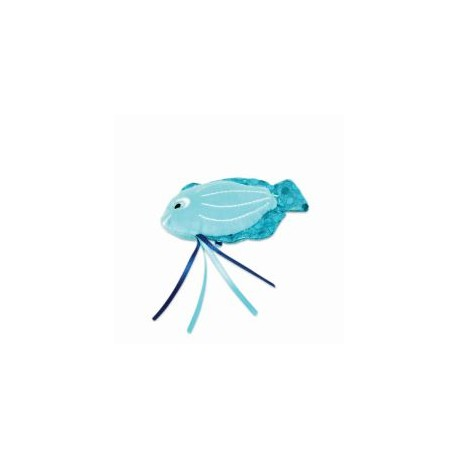 Peluche Poisson Bleu catnip pour Chat - BE ONE BREED