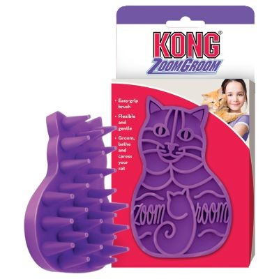 Brosse ZOOM GROOM Souple pour Chat KONG