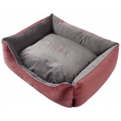 Sofa Deluxe Ouate Gris et Vieux Rose GM - WOUAPY