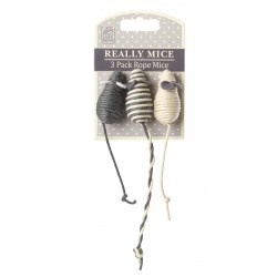Souris pour Chat Really Mice - 3 Pack Rope Mice (lot de 3) - HOUSE OF PAWS