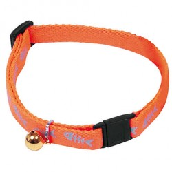 Collier Chat Poissons Fluo Reflective (réglable, anti-étranglement) - HUNTER SMART