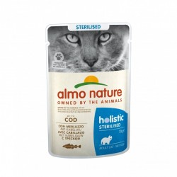 ALMO NATURE Sterilised au Cabillaud 70gr